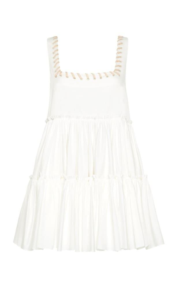 """<p>Aje Hushed Braid-detailed Cotton Mini Dress, $355, <a href=""""https://rstyle.me/+eoiS5H0xdx0jECNsB7fkZA"""" rel=""""nofollow noopener"""" target=""""_blank"""" data-ylk=""""slk:available here"""" class=""""link rapid-noclick-resp"""">available here</a> (sizes AU 4-14). </p>"""
