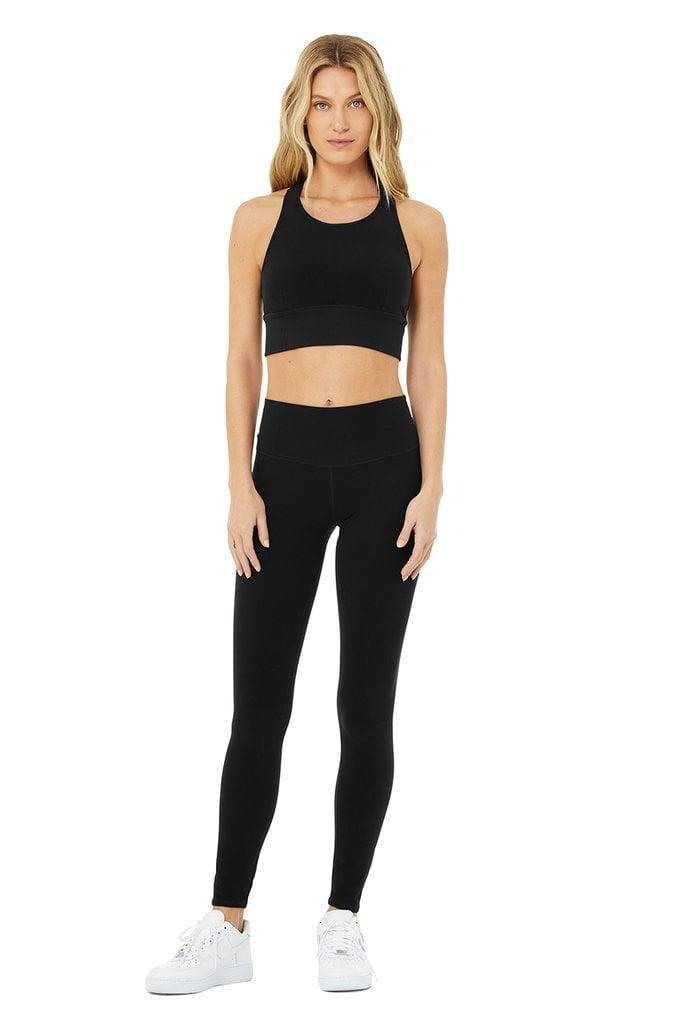 <p>When you want something super soft, go with this <span>Alo High-Waist Alosoft Highlight Legging &amp; Serenity Bra Set</span> ($150). It's super comfortable, and still looks pulled together for cozy nights in.</p>