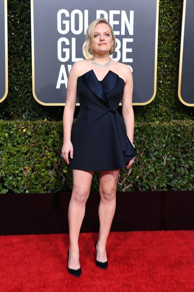 <p>Elisabeth Moss attends the 76th Annual Golden Globe Awards at the Beverly Hilton Hotel in Beverly Hills, Calif., on Jan. 6, 2019. (Photo: Getty Images) </p>