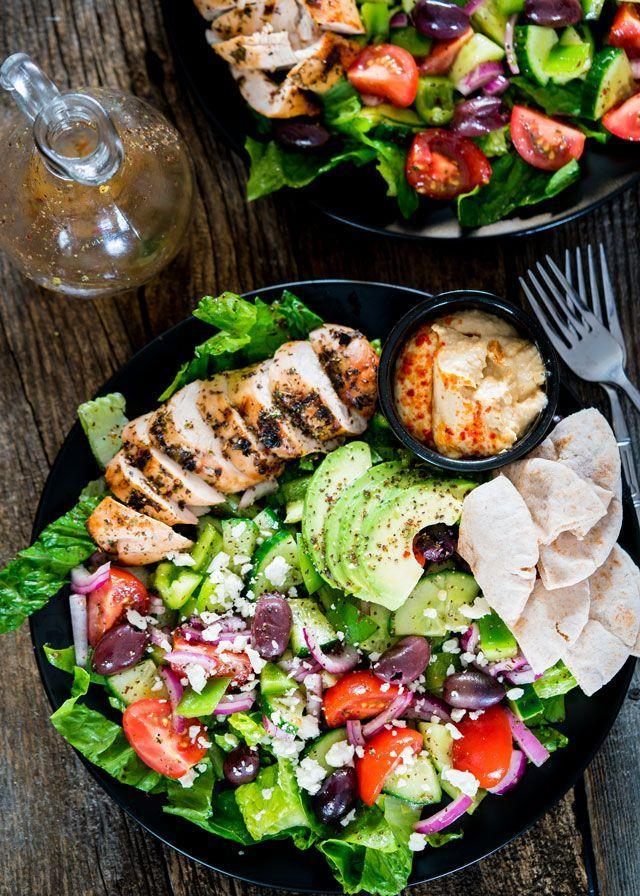 """<p>It's the perfect summer dish! We love the marinated Greek chicken atop this colorful salad. </p><p><strong>Get the recipe at <a href=""""https://www.jocooks.com/recipes/mediterranean-grilled-chicken-salad/"""" rel=""""nofollow noopener"""" target=""""_blank"""" data-ylk=""""slk:Jo Cooks"""" class=""""link rapid-noclick-resp"""">Jo Cooks</a>.</strong></p><p><a class=""""link rapid-noclick-resp"""" href=""""https://go.redirectingat.com?id=74968X1596630&url=https%3A%2F%2Fwww.walmart.com%2Fip%2FThe-Pioneer-Woman-Timeless-Beauty-Pre-Seasoned-Plus-20-Cast-Iron-Double-Griddle%2F117723541&sref=https%3A%2F%2Fwww.thepioneerwoman.com%2Ffood-cooking%2Fmeals-menus%2Fg32188535%2Fbest-grilling-recipes%2F"""" rel=""""nofollow noopener"""" target=""""_blank"""" data-ylk=""""slk:SHOP GRIDDLES"""">SHOP GRIDDLES </a></p>"""