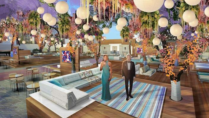 A rendering of the set for the 93rd Academy Awards