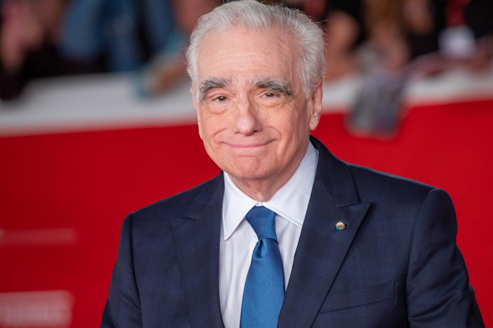 Martin Scorsese attends ''The Irishman'' red carpet during the 14th Rome Film Festival on October 21, 2019. (Photo by Mauro Fagiani/NurPhoto via Getty Images)