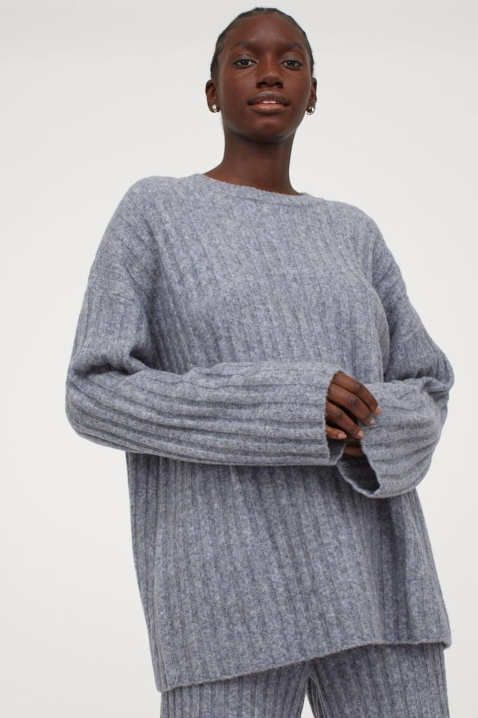 <p>I like the casual yet put-together look of this <span>Ribbed Wool-blend Sweater</span> ($50).</p>