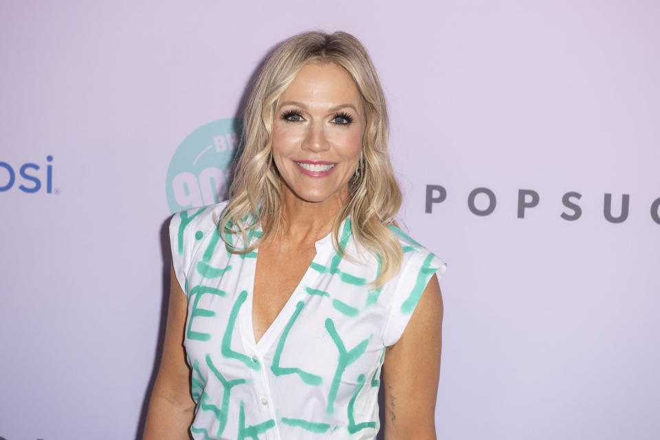 US actress Jennie Garth arrives for the premiere of