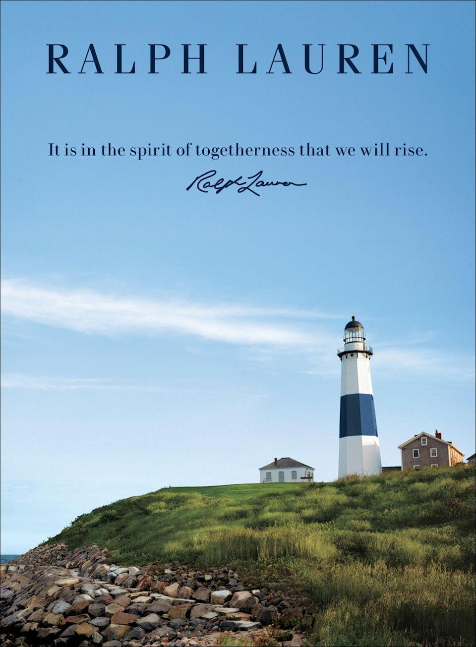 <p>It is in the spirit of togetherness that we will rise.<em> —Ralph Lauren</em></p>