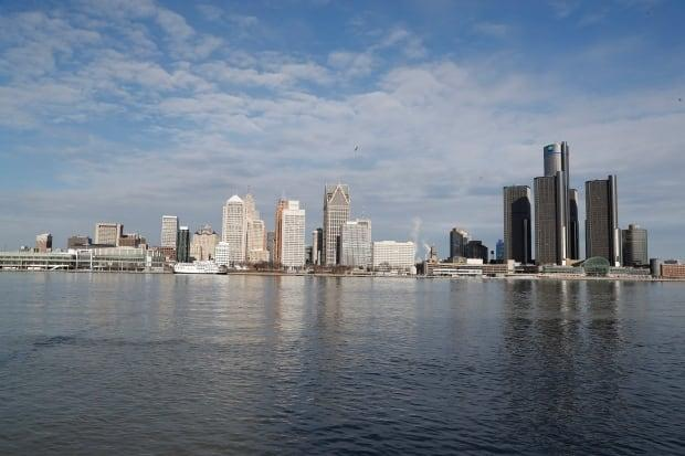 In this Jan. 11, 2019, photo, the Detroit skyline is seen from Windsor, Ont.   (AP Photo/Carlos Osorio - image credit)