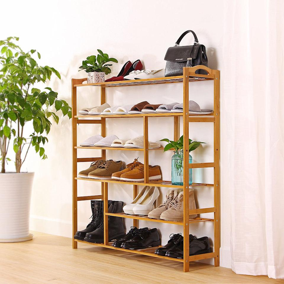 """<p>The different compartments in this <a href=""""https://www.popsugar.com/buy/Ollieroo-Bamboo-Shoe-Rack-472779?p_name=Ollieroo%20Bamboo%20Shoe%20Rack&retailer=walmart.com&pid=472779&price=49&evar1=casa%3Aus&evar9=46583359&evar98=https%3A%2F%2Fwww.popsugar.com%2Fhome%2Fphoto-gallery%2F46583359%2Fimage%2F46585027%2FOllieroo-Bamboo-Shoe-Rack&list1=shopping%2Corganization%2Chome%20organization%2Chome%20shopping&prop13=api&pdata=1"""" rel=""""nofollow"""" data-shoppable-link=""""1"""" target=""""_blank"""" class=""""ga-track"""" data-ga-category=""""Related"""" data-ga-label=""""https://www.walmart.com/ip/Ollieroo-Bamboo-Shoe-Rack-6-Tier-Shoe-Organizer-for-Closet-Entryway-Shoe-Shelf/146889061"""" data-ga-action=""""In-Line Links"""">Ollieroo Bamboo Shoe Rack</a> ($49) are so useful.</p>"""