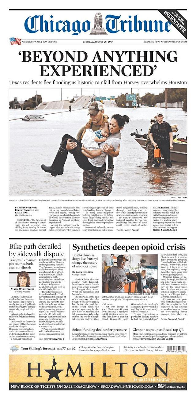 <p>Chicago Tribune<br> Published in Chicago, Ill. USA. (newseum.org) </p>