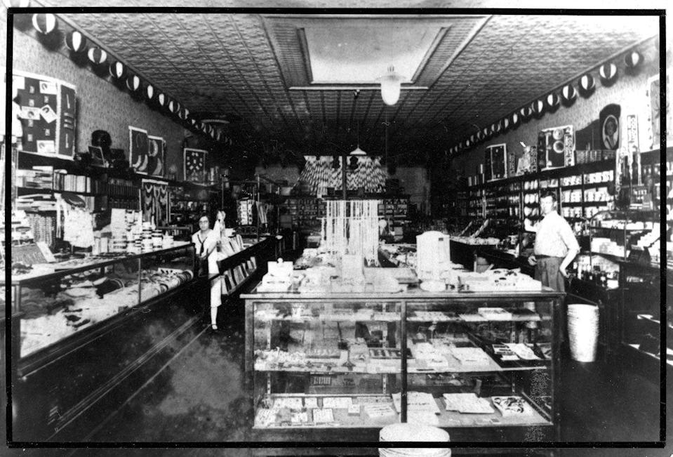 <p>On May 9, 1950, Sam and Helen bought out a Harrison's variety store in Bentonville, Arkansas. They opened a new Ben Franklin store and named it Walton's 5&10.</p><p>Photo: Courtesy of The Walmart Museum</p>
