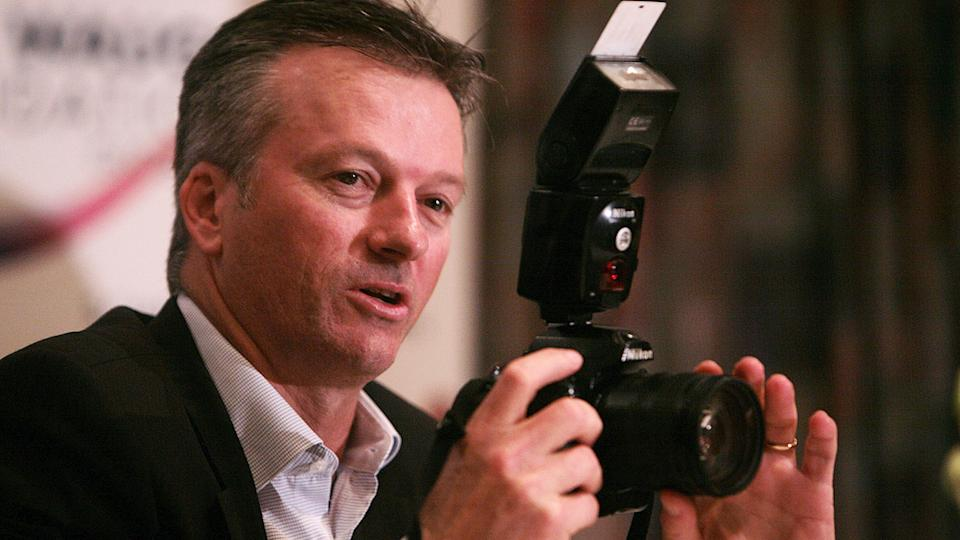 Former Australian cricket captain Steve Waugh has won the Wisden Cricket Photo of the Year for 2020. (Photo by Nagesh Ohal/The India Today Group via Getty Images)