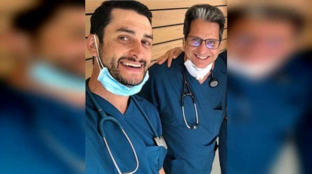 PHOTO: Jordan Wertheimer (left) and Dr. Lawrence Sher (right) pictured at Peninsula Research Associates in Rancho Palos Verdes, California.  (Peninsula Research Associates/Jordan Wertheimer)