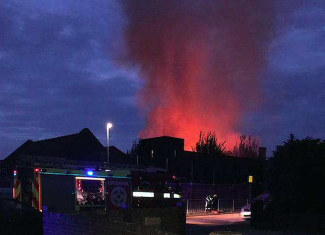 The fire at the school broke out on Tuesday morning (Picture: @67jrde/PA)