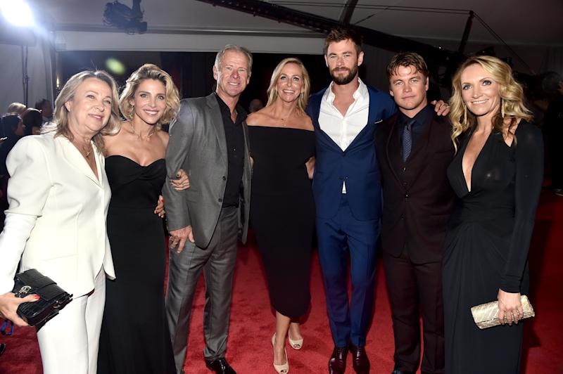 The whole family was there! (Liam clearly missed this photo op, though.) (Alberto E. Rodriguez via Getty Images)