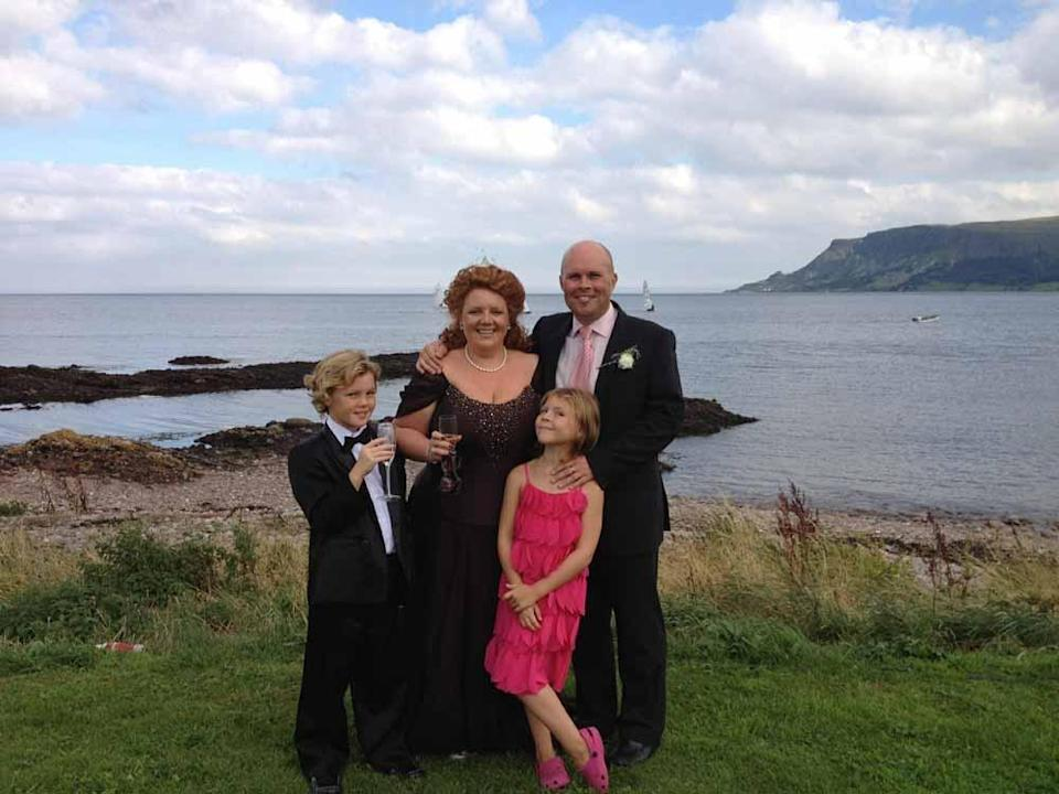 Cameron with his parents and sister Annie before he got ill. PA REAL LIFE COLLECT