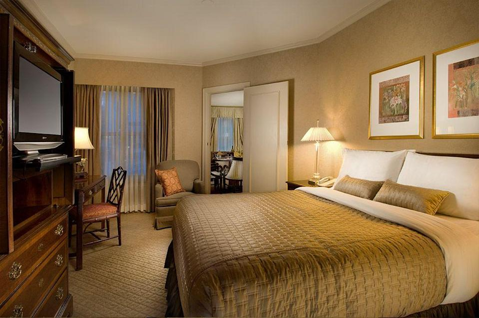 "<p>Giving new meaning to ""Sleepless in Seattle"" guests at the upscale Mayflower Park Hotel has reported feeling the presence of someone in Room #1120. Sometimes described as an older gentleman simply greeting visitors, others have insisted on changing rooms after observing the eerie presence.<em><br></em></p><p><a class=""link rapid-noclick-resp"" href=""https://go.redirectingat.com?id=74968X1596630&url=https%3A%2F%2Fwww.tripadvisor.com%2FHotel_Review-g60878-d100542-Reviews-Mayflower_Park_Hotel-Seattle_Washington.html&sref=https%3A%2F%2Fwww.countryliving.com%2Flife%2Ftravel%2Fg2689%2Fmost-haunted-hotels-in-america%2F"" rel=""nofollow noopener"" target=""_blank"" data-ylk=""slk:PLAN YOUR TRIP"">PLAN YOUR TRIP </a></p>"