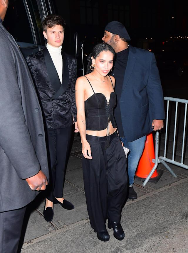 <p>Zoe Kravitz at at Up and Down Nightclub for Rihanna's Met Gala After Party<br> (Photo: Splash News) </p>