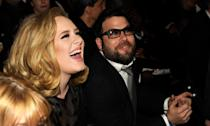 "The '<em>Someone Like You</em>' singer split with husband Simon Konecki earlier this year after three years of marriage. The pair had been dating five years prior to tying the knot and also share son Angelo, who was born in 2012. In October, Adele shared a photo of herself from Drake's birthday party <a href=""https://uk.news.yahoo.com/adele-weight-loss-pilates-one-stone-drake-birthday-party-pictures-103408627.html"" data-ylk=""slk:displaying a new look;outcm:mb_qualified_link;_E:mb_qualified_link;ct:story;"" class=""link rapid-noclick-resp yahoo-link"">displaying a new look</a>. (Kevin Mazur/WireImage)"
