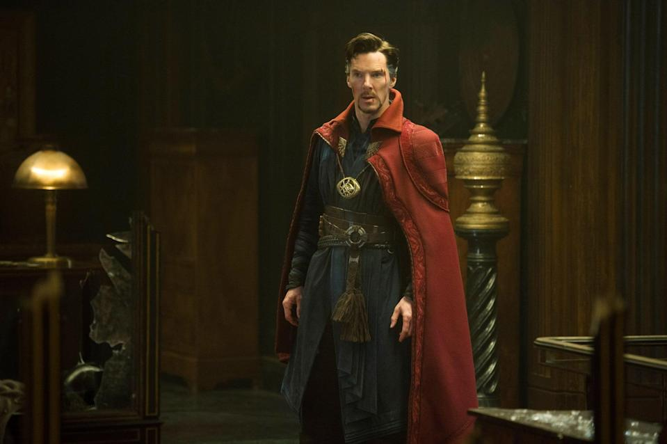 """<p><strong>Doctor Strange in the Multiverse of Madness</strong> has been <a href=""""https://www.popsugar.com/entertainment/Doctor-Strange-Sequel-Details-45583658"""" class=""""link rapid-noclick-resp"""" rel=""""nofollow noopener"""" target=""""_blank"""" data-ylk=""""slk:quietly coming together"""">quietly coming together</a> behind the scenes. It's set to be Marvel's first horror movie, which makes sense considering it'll presumably dive deep into the <a href=""""https://www.popsugar.com/entertainment/What-Earth-MCU-Based-46343744"""" class=""""link rapid-noclick-resp"""" rel=""""nofollow noopener"""" target=""""_blank"""" data-ylk=""""slk:convoluted concept of the multiverse"""">convoluted concept of the multiverse</a>. Trying to understand the space-time continuum can be terrifying.</p> <p><strong>Release date:</strong> March 25, 2022</p>"""