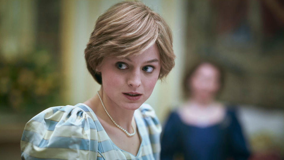 Emma Corrin earned plaudits and awards for her portrayal of Princess Diana in series four of 'The Crown'. (Des Willie/Netflix)