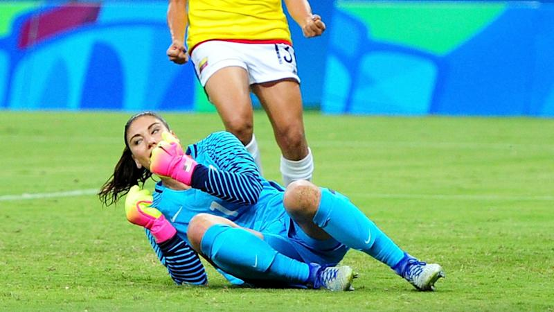 c5c8881e13f Colombia 2-2 USA  USWNT wins Olympics group as Hope Solo struggles
