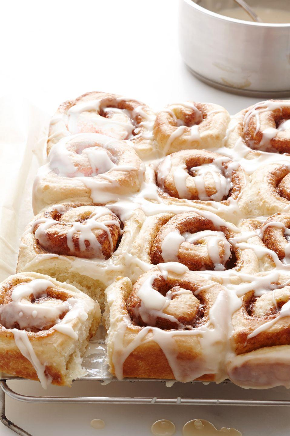 "<p>Cinnamon rolls are a non-negotiable brunch staple, and nothing beats the homemade kind. </p><p><em><em><a href=""https://www.goodhousekeeping.com/food-recipes/a15360/cinnamon-rolls-recipe-wdy0414/"" rel=""nofollow noopener"" target=""_blank"" data-ylk=""slk:Get the recipe for Cinnamon Rolls »"" class=""link rapid-noclick-resp"">Get the recipe for Cinnamon Rolls »</a></em> </em><br></p>"