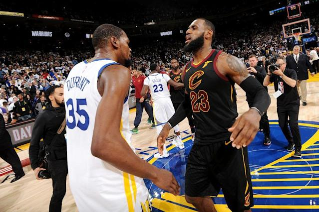 LeBron James and Kevin Durant would have both been in Cleveland if the Cavaliers had their wish in 2016. (Getty Images)