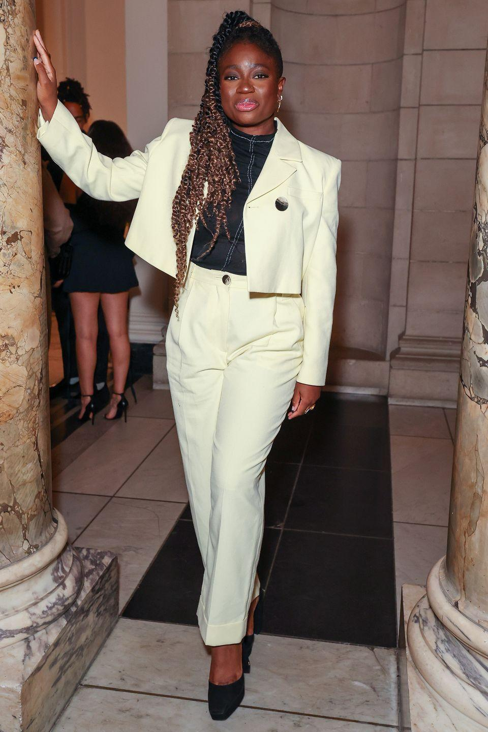 <p><strong>19 September</strong></p><p>Clara Amfo attended the Richard Malone show during London Fashion Week in a statement-making cream suit. </p>