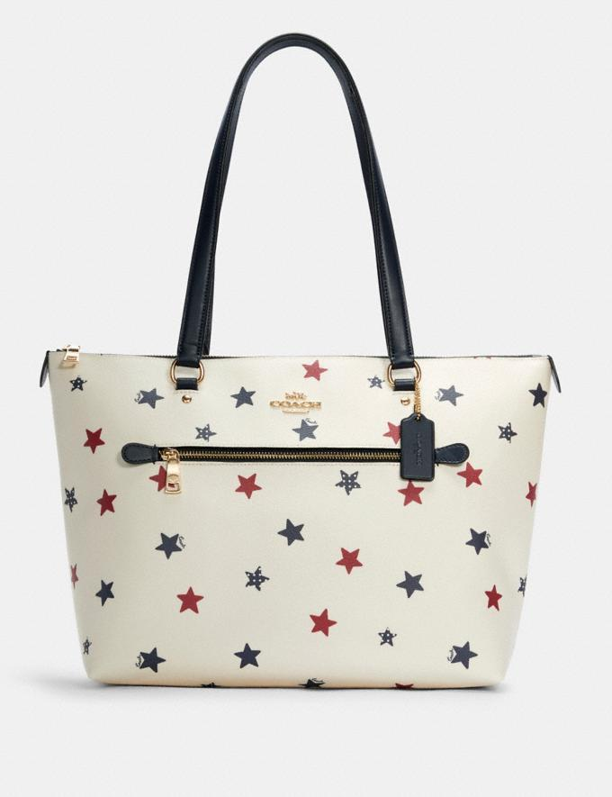 Gallery Tote With Americana Star Print - Coach Outlet