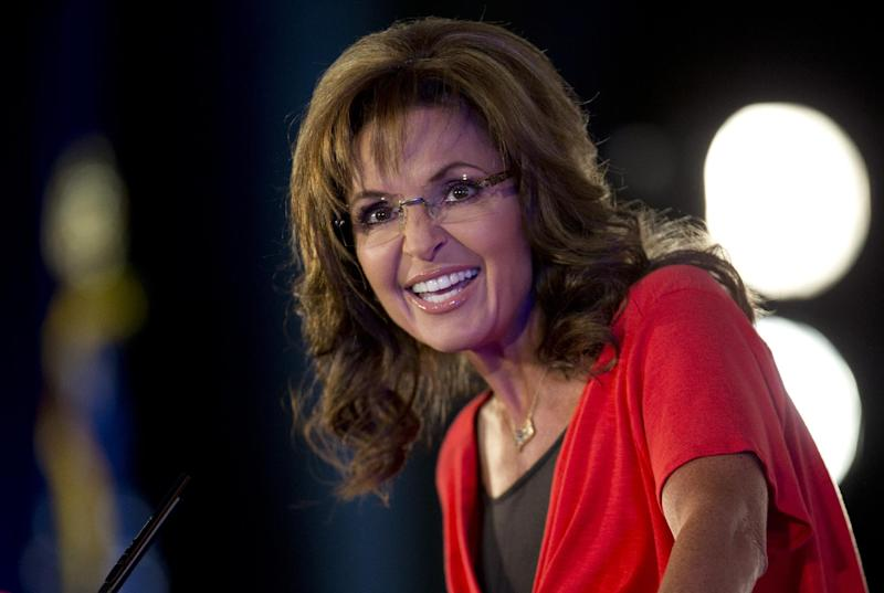Former Gov. of Alaska Sarah Palin speaks during the Faith and Freedom Coalition Road to Majority 2013 conference, Saturday, June 15, 2013, in Washington. Religious conservatives have been skeptical of the Republican National Committee's plan for growth, which calls for more tolerant attitudes on immigration and social issues, such as abortion and gay marriage. Palin, the conference's final speaker, rejected calls for an immigration overhaul, that includes a path to citizenship for immigrants in the country illegally. (AP Photo/Carolyn Kaster)