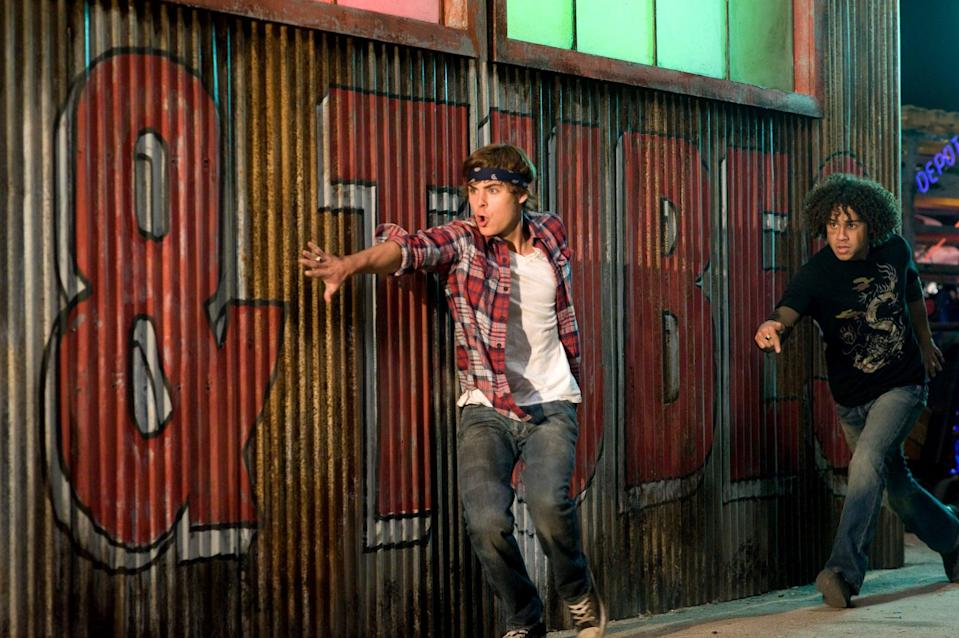 HIGH SCHOOL MUSICAL 3: SENIOR YEAR, from left: Zac Efron, Corbin Bleu, 2008. Walt Disney Co./courtesy Everett Collection