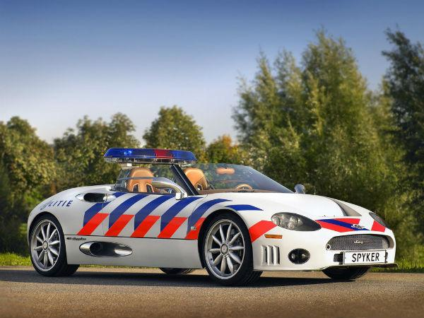 Netherlands is on the list too as Spyker created a C8 Spyder supercar for the Frevoland Police.