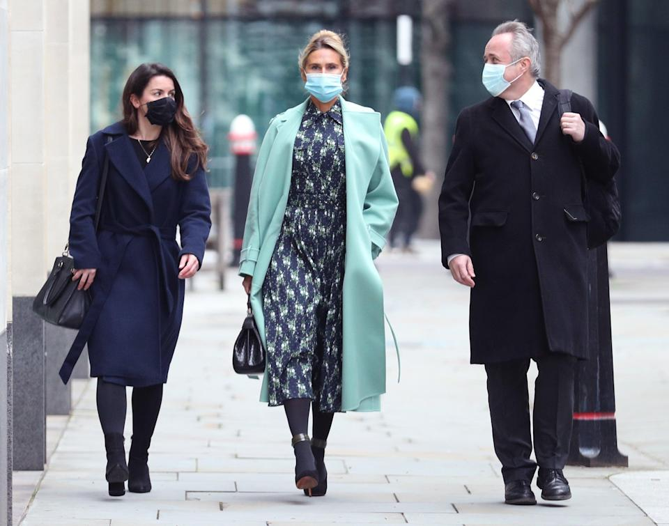 Tatiana Akhmedova (centre) 'has been the victim of a series of schemes designed to put every penny of the husband's wealth beyond her reach,' the judge saidPA