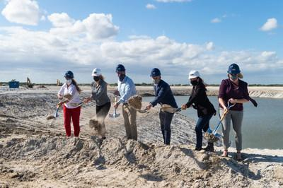 Members of the Mattamy Homes team break ground on Telaro, the company's first 55-plus luxury development in the master-planned community of Tradition. (CNW Group/Mattamy Homes Limited)