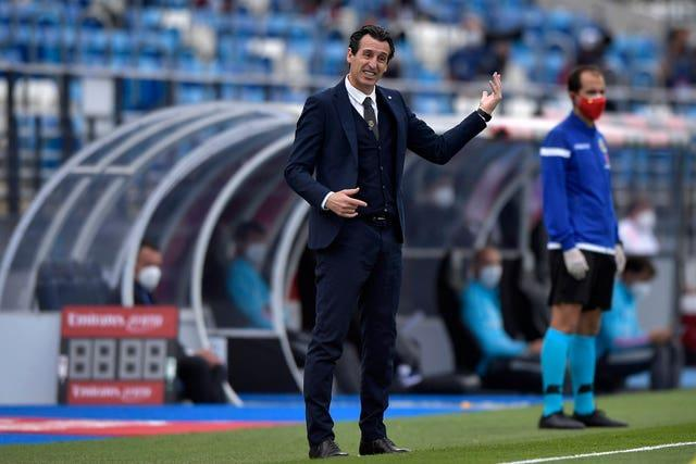 Villarreal boss Unai Emery turned his attention to Wednesday's Europa League final