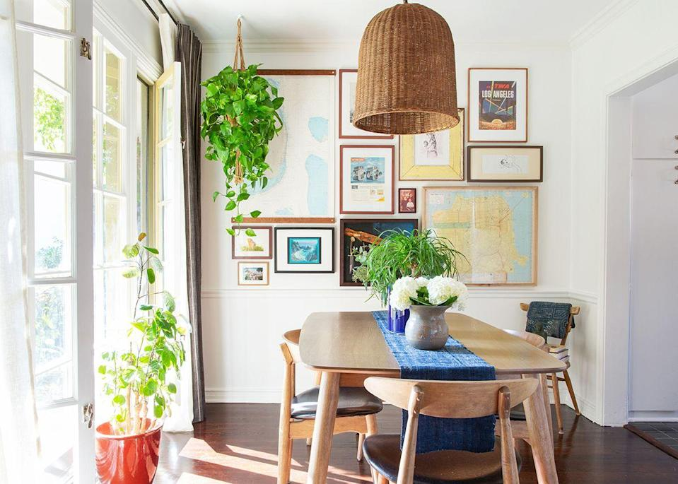 """Built in 1948 and restored in 2005, the 1000-square-foot, one-bedroom apartment is situated in a colonial revival-style building with hints of storybook architectural details. """"We moved here temporarily while we renovate our house in Silverlake, so I really didn't want to be a crazy person and design it to the nines,"""" confesses Cheng."""