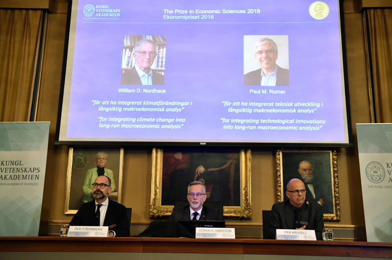 United States  economists win Nobel prize for work on climate and growth