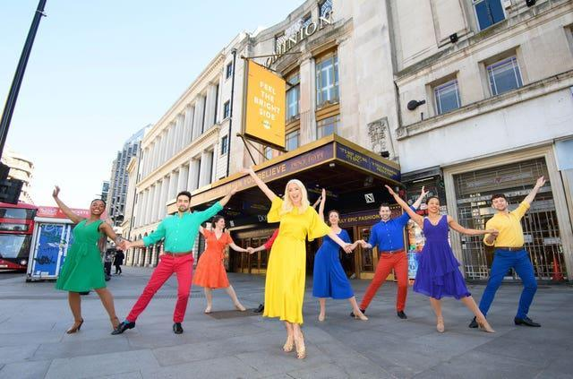 Denise van Outen and troupe mark UK opening of theatres on May 17th