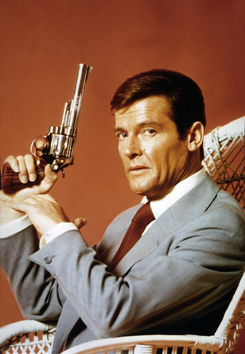 "Actor Roger Moore on the set of ""Live And Let Die"". (Photo by Sunset Boulevard/Corbis via Getty Images)"