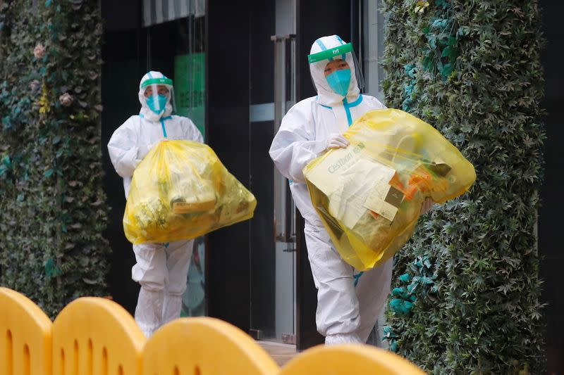 Hotel where WHO team members tasked with investigating the origins of the coronavirus (COVID-19) pandemic are quarantined, in Wuhan