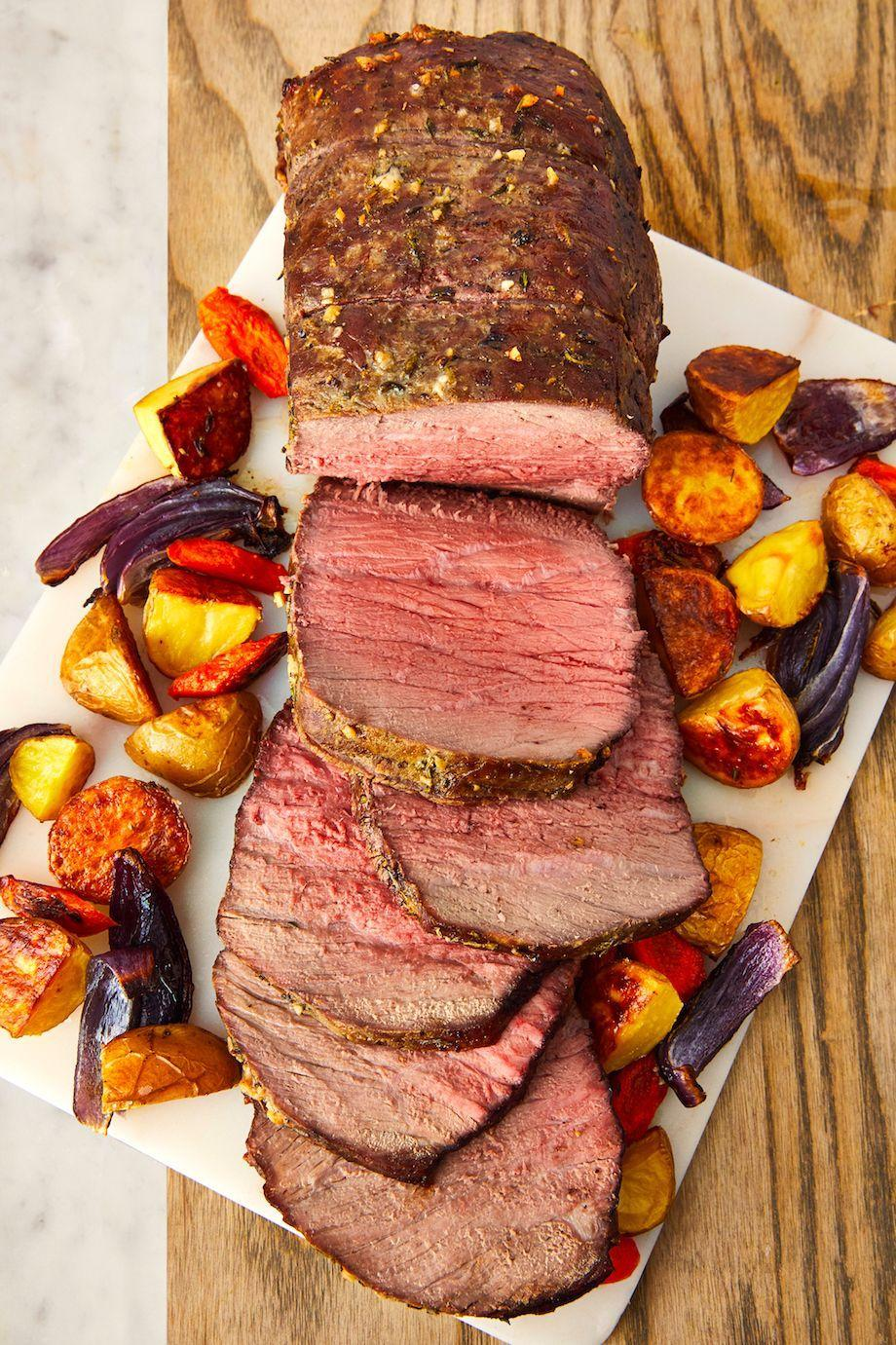 """<p>This will wow your dinner guests. </p><p>Get the recipe from <a href=""""https://www.delish.com/cooking/recipe-ideas/a23584914/perfect-roast-beef-recipe/"""" rel=""""nofollow noopener"""" target=""""_blank"""" data-ylk=""""slk:Delish"""" class=""""link rapid-noclick-resp"""">Delish</a>. </p>"""