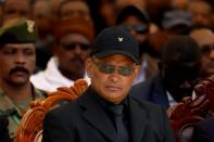FILE PHOTO: Debretsion Gebremichael, Tigray Regional President, attends the funeral ceremony of Ethiopia's Army Chief of Staff Seare Mekonnen in Mekele