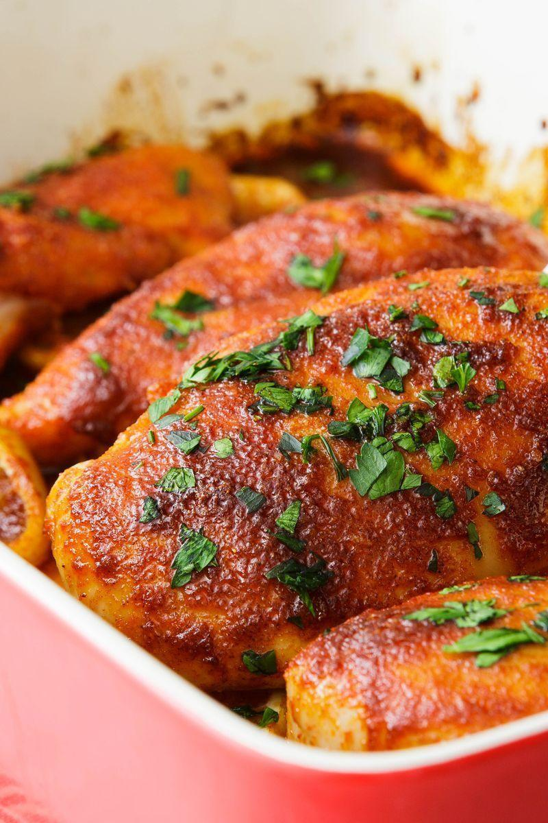 """<p>Let's face it, chicken breasts are really bland. Especially when there's no skin (i.e. fat and flavour). But this baked chicken is very different. </p><p>Get the <a href=""""https://www.delish.com/uk/cooking/recipes/a29455766/easy-baked-chicken-breast-recipe/"""" rel=""""nofollow noopener"""" target=""""_blank"""" data-ylk=""""slk:Perfect Baked Chicken Breast"""" class=""""link rapid-noclick-resp"""">Perfect Baked Chicken Breast</a> recipe.</p>"""