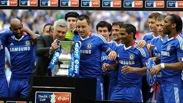 <p>June 2009 saw Chelsea appoint their fourth permanent manager in just 21 months. Carlo Ancelotti signed on an initial three-year contract, and was seen as a potential stabilising influence after the recent changes.</p> <br><p>Not only did the Italian stabilise the club, but he turned them into the Premier League's most prolific goal-scoring outfit. Chelsea won the league title in his first season, scoring a record 103 goals in 38 league games - including an 8-0 victory over Wigan at Stamford Bridge which secured the title.</p> <br><p>To back up the league win, Ancelotti also won the FA Cup in that same season, beating Portsmouth 1-0 in the final; subsequently leading Chelsea to their first ever domestic double.</p>