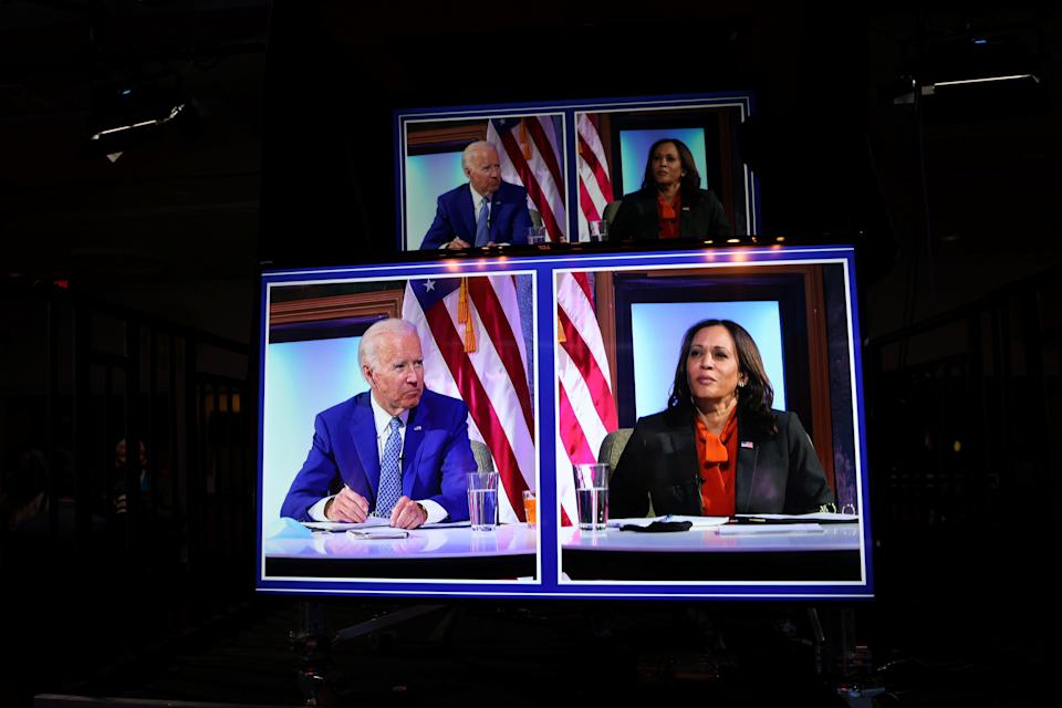 <p>President-elect Joe Biden and Vice President-elect Kamala Harris discussed their visions for her role once they take office.</p> (REUTERS)