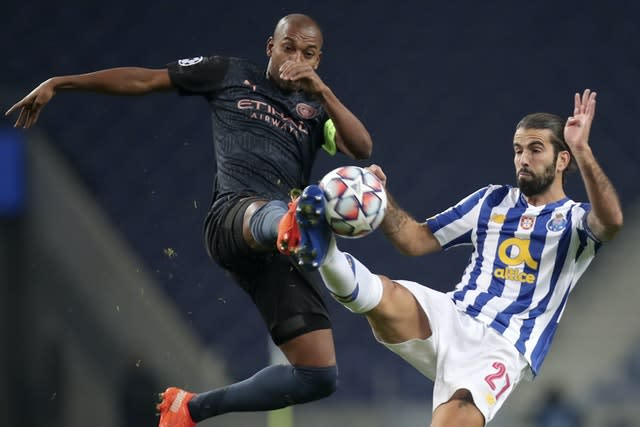 Fernandinho came under fire from Porto after Tuesday's game