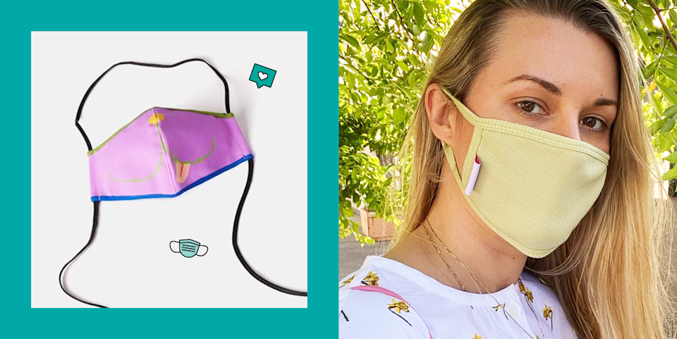 """<p>Like it or not, face masks are part of all our daily routines now and a necessity to protect ourselves and others from the ongoing <a href=""""https://www.cosmopolitan.com/coronavirus-covid19-news-tips/"""" rel=""""nofollow noopener"""" target=""""_blank"""" data-ylk=""""slk:coronavirus pandemic"""" class=""""link rapid-noclick-resp"""">coronavirus pandemic</a>. Cases are <a href=""""https://www.bbc.com/news/election-us-2020-54423928"""" rel=""""nofollow noopener"""" target=""""_blank"""" data-ylk=""""slk:back on the rise"""" class=""""link rapid-noclick-resp"""">back on the rise</a> and while we should be staying home as much as possible, if you DO need to go outside for a grocery run or a socially-distanced walk to get some fresh air, you best be wearing a mask. There are a ton of options out there like <a href=""""https://www.cosmopolitan.com/style-beauty/fashion/g33372005/breathable-face-masks/"""" rel=""""nofollow noopener"""" target=""""_blank"""" data-ylk=""""slk:lightweight, breathable masks"""" class=""""link rapid-noclick-resp"""">lightweight, breathable masks</a>, <a href=""""https://www.cosmopolitan.com/style-beauty/fashion/g33561401/black-owned-face-masks/"""" rel=""""nofollow noopener"""" target=""""_blank"""" data-ylk=""""slk:colorful, printed ones from Black-owned businesses"""" class=""""link rapid-noclick-resp"""">colorful, printed ones from Black-owned businesses</a>, and <a href=""""https://www.cosmopolitan.com/style-beauty/fashion/g32210697/where-to-buy-fashion-face-masks-online/"""" rel=""""nofollow noopener"""" target=""""_blank"""" data-ylk=""""slk:cute ones that even come with matching scrunchies"""" class=""""link rapid-noclick-resp"""">cute ones that even come with matching scrunchies</a>, so there's no excuse not to wear one. If you're looking to make the most out of your mask purchase though, shop from the selection below that donates some or all of the proceeds to charitable, worthy causes like giving back to food banks, providing PPE to frontline workers, or fighting racial injustice. </p><p>You can help prevent the spread of COVID by wearing these styles, look cute and fashionab"""