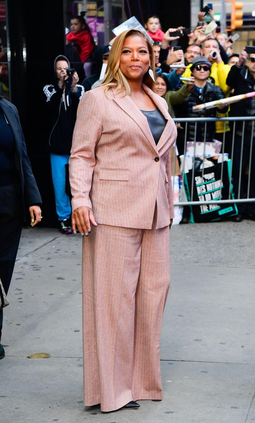 """<p>Queen Latifah says she has always struggled with her weight, but when she became a spokesperson for Jenny Craig, she ditched more than 20 pounds. In a 2010 interview with <em><a href=""""https://people.com/style/queen-latifah-on-staying-fit-fabulous-and-philanthropic-at-almost-40/"""" rel=""""nofollow noopener"""" target=""""_blank"""" data-ylk=""""slk:People"""" class=""""link rapid-noclick-resp"""">People</a></em>, the <em>Girls Trip </em>star said, """"I don't really diet. I kind of keep everything in moderation, exercise, and eat right. I eat a lot of vegetables and lean meats, and I drink a whole lot of water.""""<br></p>"""