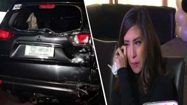 Jolina after the vehicle accident