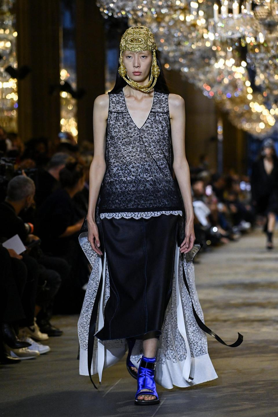 <p>There've been raw hems all over the runway this season, and this skirt is one of my favorites.</p>