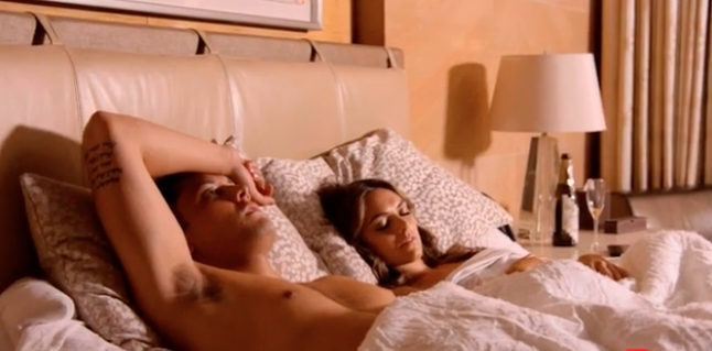 Home and Away couple in bed